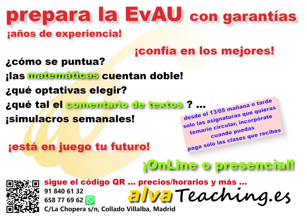 prepara la EvAU. alvaTeaching